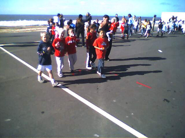 alden @ the jog-a-thon for his school.  oh yeah his play yard is   on the pacific ocean...