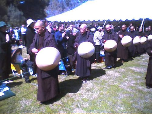 hahn (left) shared with us in 'mindful meditation'